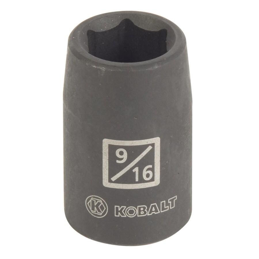 Kobalt 1/2-in Drive 9/16-in Shallow Standard (SAE) Impact Socket
