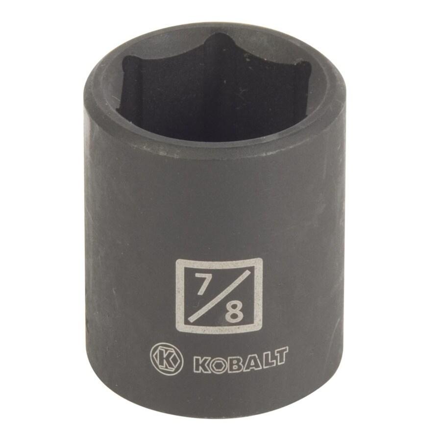 Kobalt 1/2-in Drive 7/8-in Shallow Standard (SAE) Impact Socket