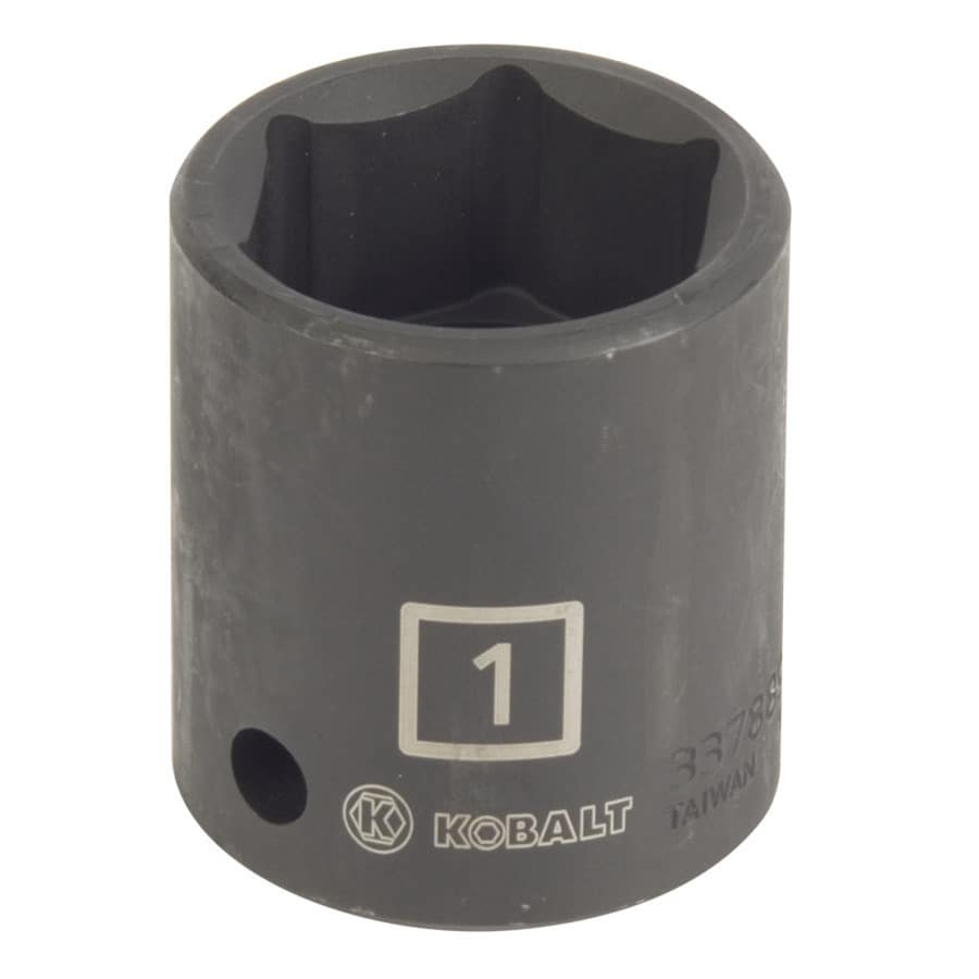 Kobalt 1/2-in Drive 1-in Shallow Standard (SAE) Impact Socket