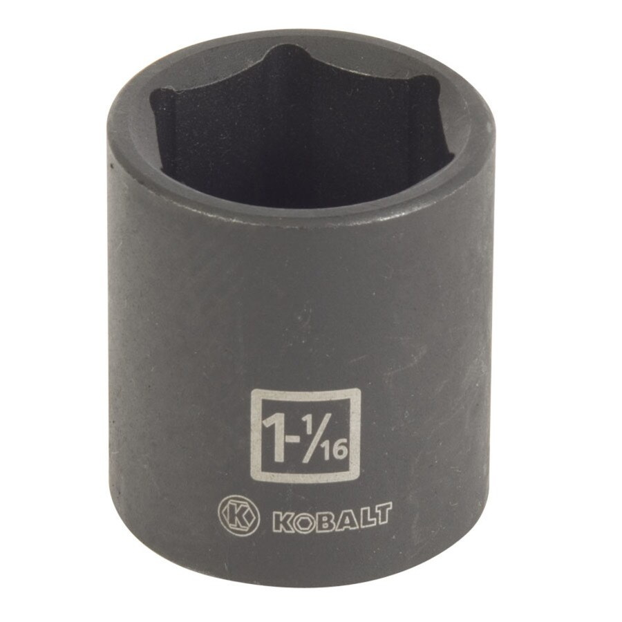 Kobalt 1/2-in Drive 1-1/16-in Shallow Standard (SAE) Impact Socket