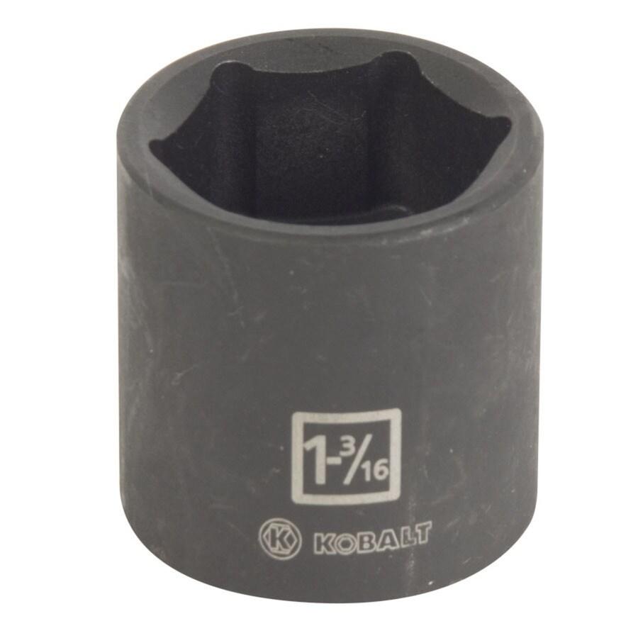 Kobalt 1/2-in Drive 1-3/16-in Shallow Standard (SAE) Impact Socket