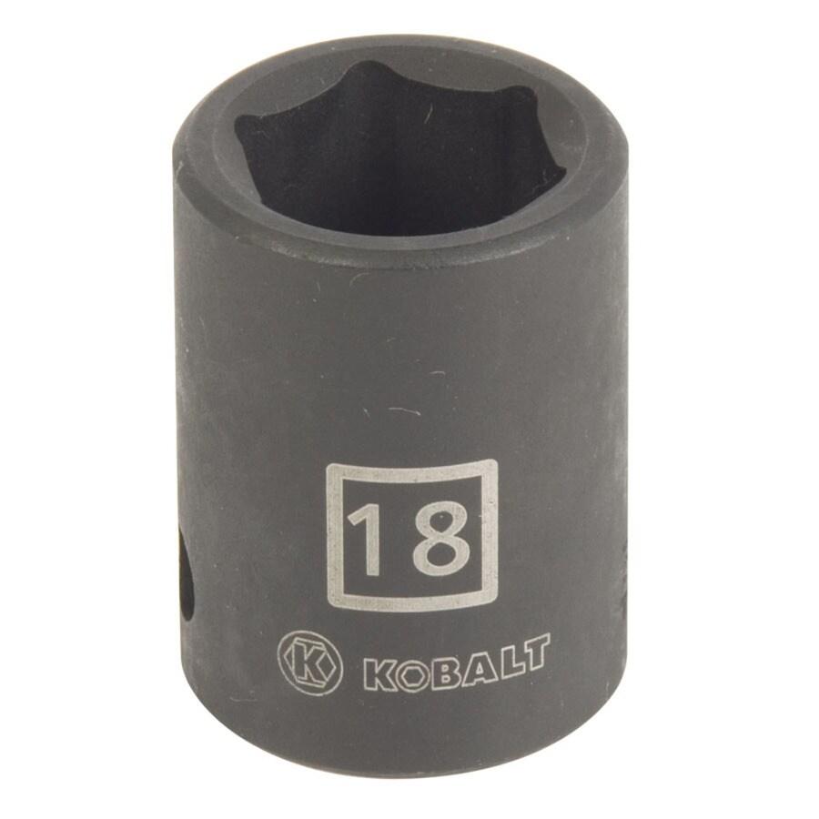 Kobalt 1/2-in Drive 18mm Shallow 6-Point Metric Impact Socket