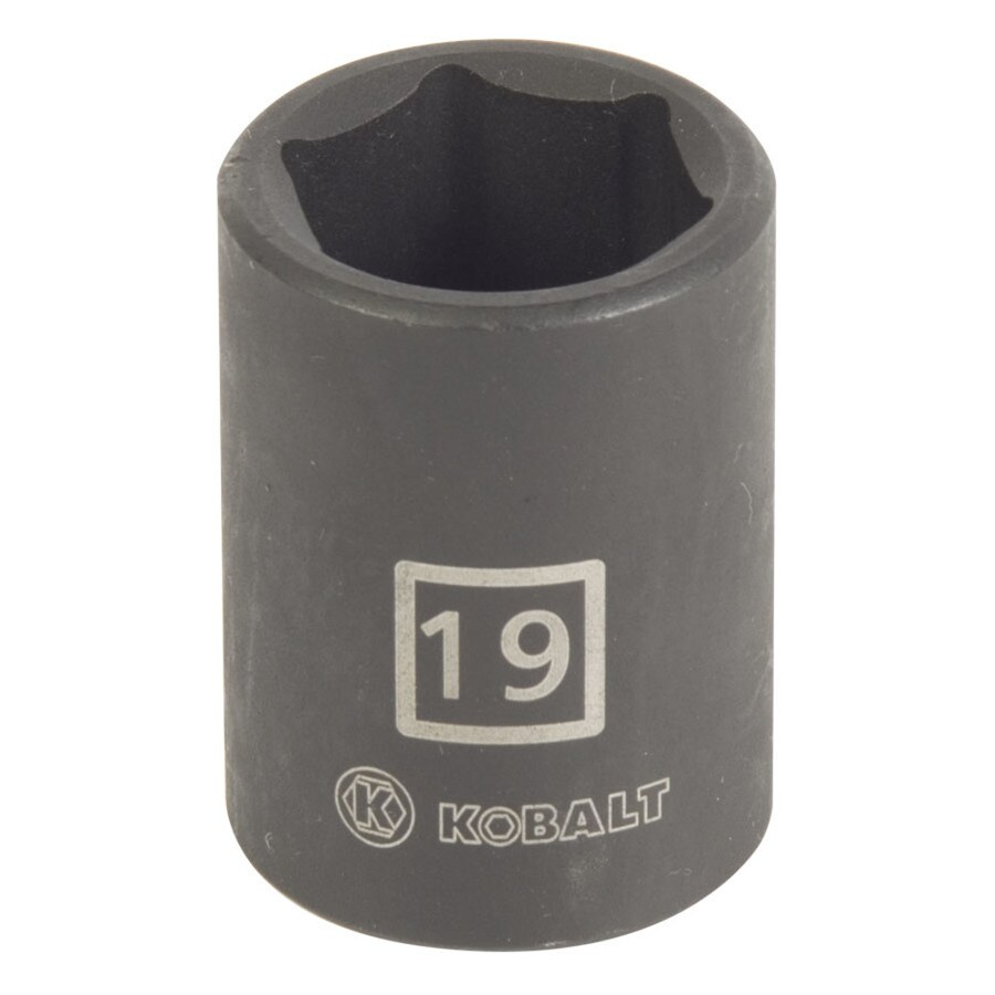 Kobalt 1/2-in Drive 19mm Shallow 6-Point Metric Impact Socket