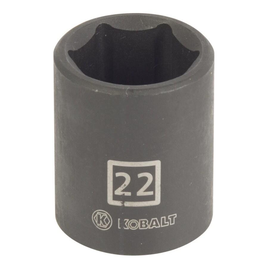 Kobalt 1/2-in Drive 22mm Shallow 6-Point Metric Impact Socket