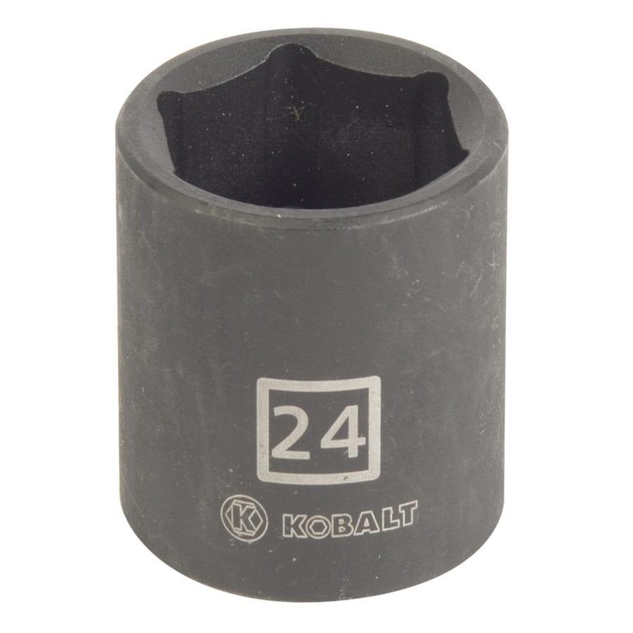 Kobalt 1/2-in Drive 24mm Shallow 6-Point Metric Impact Socket