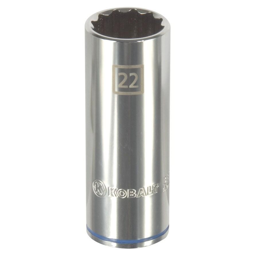 Kobalt 1/2-in Drive 22mm Deep 12-Point Metric Socket