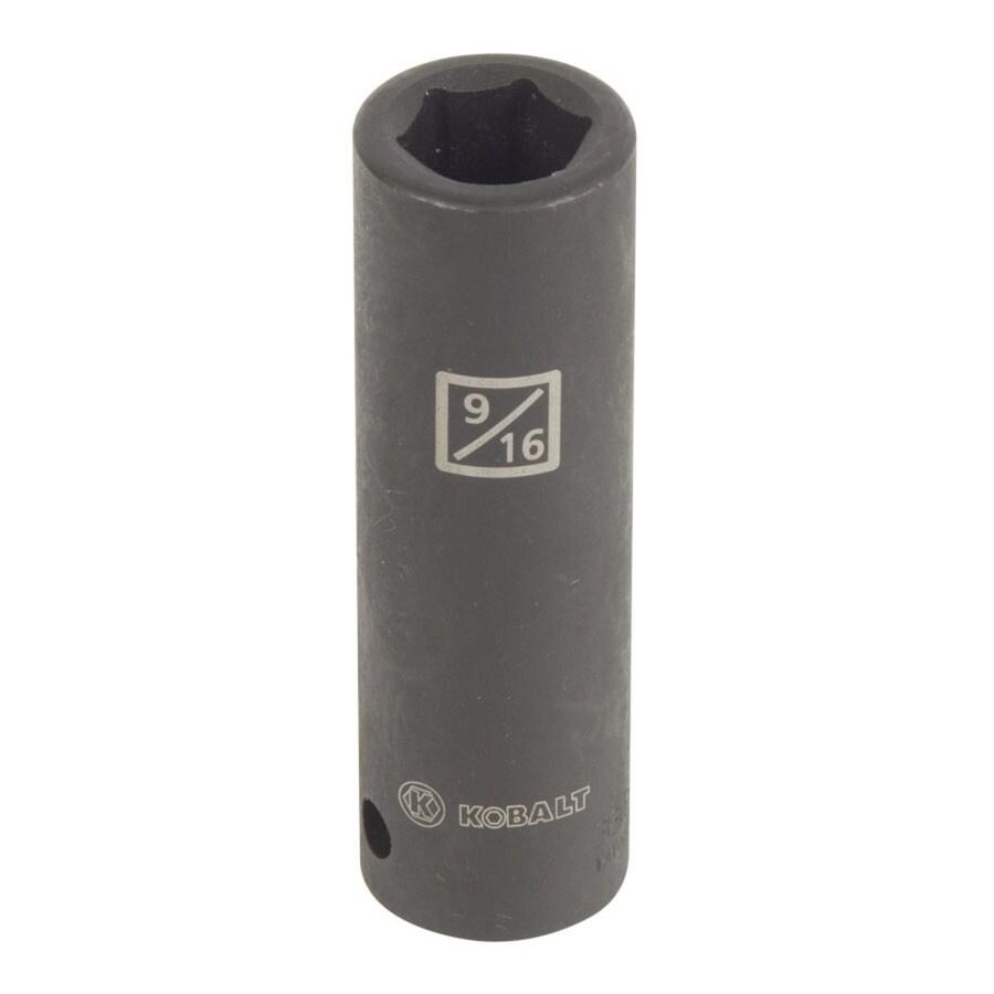 Kobalt 1/2-in Drive 9/16-in Deep 6-Point Standard (SAE) Impact Socket