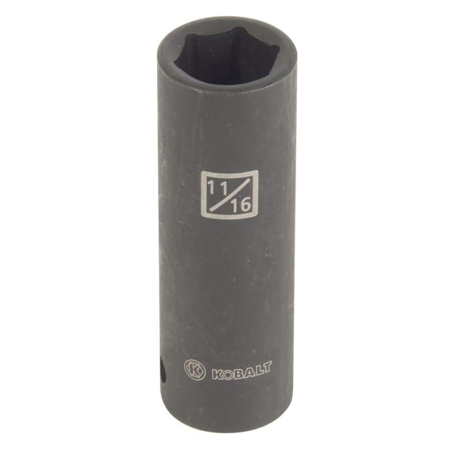Kobalt 1/2-in Drive 11/16-in Deep 6-Point Standard (SAE) Impact Socket