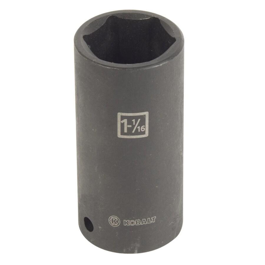 Kobalt 1/2-in Drive 1-1/16-in Deep 6-Point Standard (SAE) Impact Socket