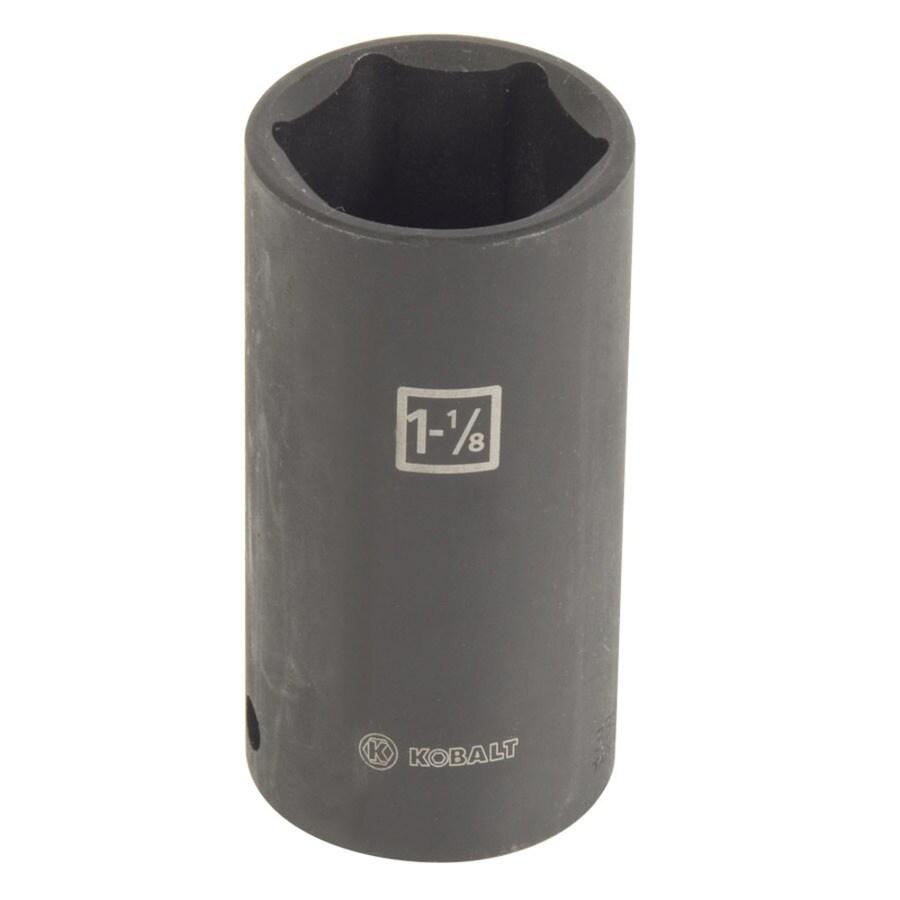 Kobalt 1/2-in Drive 1-1/8-in Deep 6-Point Standard (SAE) Impact Socket