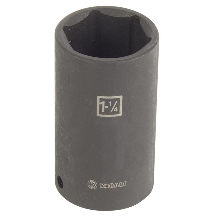 Kobalt 1/2-in Drive 1-1/4-in Deep Standard (SAE) Impact Socket