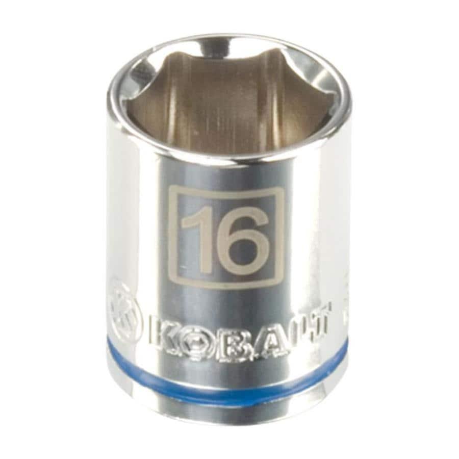 Kobalt 3/8-in Drive 16mm Shallow 6-Point Metric Socket