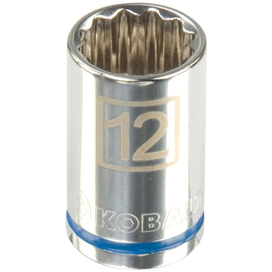 Kobalt 3/8-in Drive 12mm Shallow 12-Point Metric Socket
