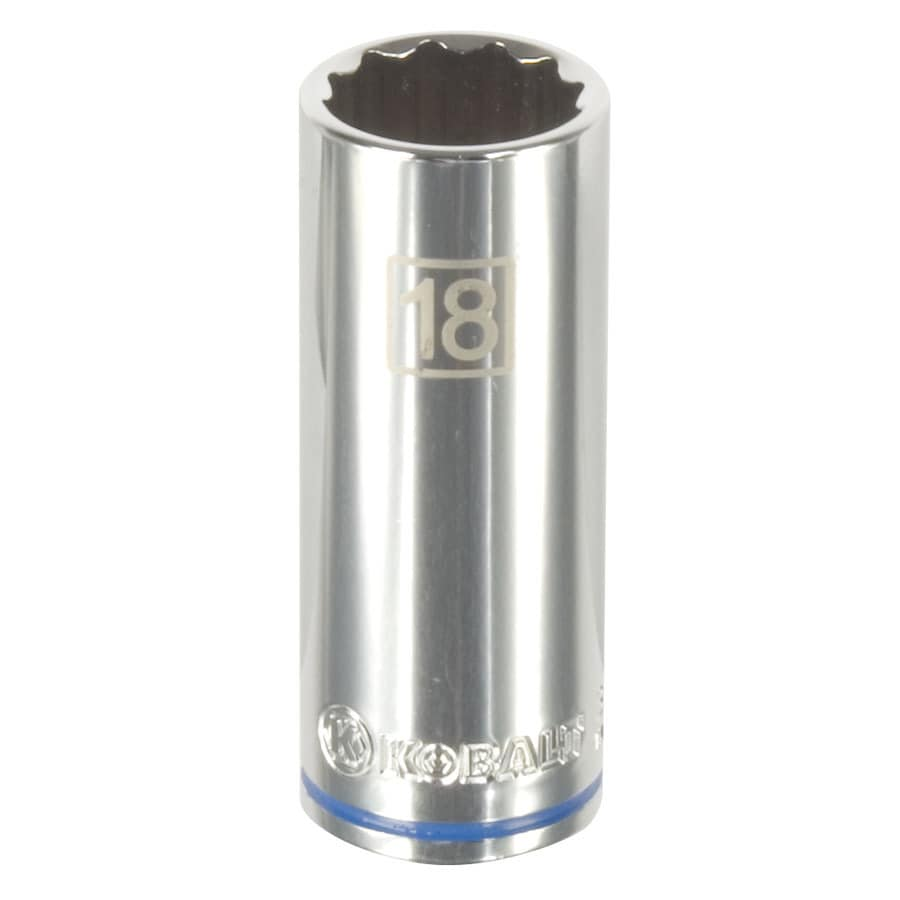 Kobalt 3/8-in Drive 18mm Deep 12-Point Metric Socket