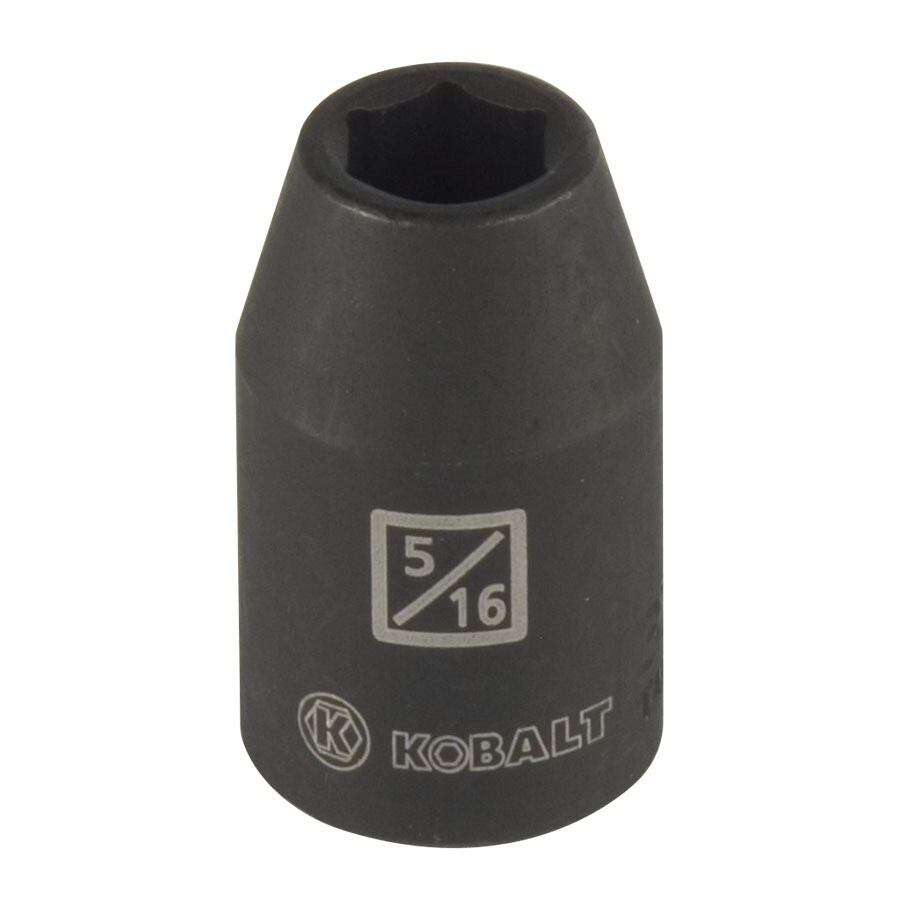 Kobalt 3/8-in Drive 5/16-in Shallow Standard (SAE) Impact Socket