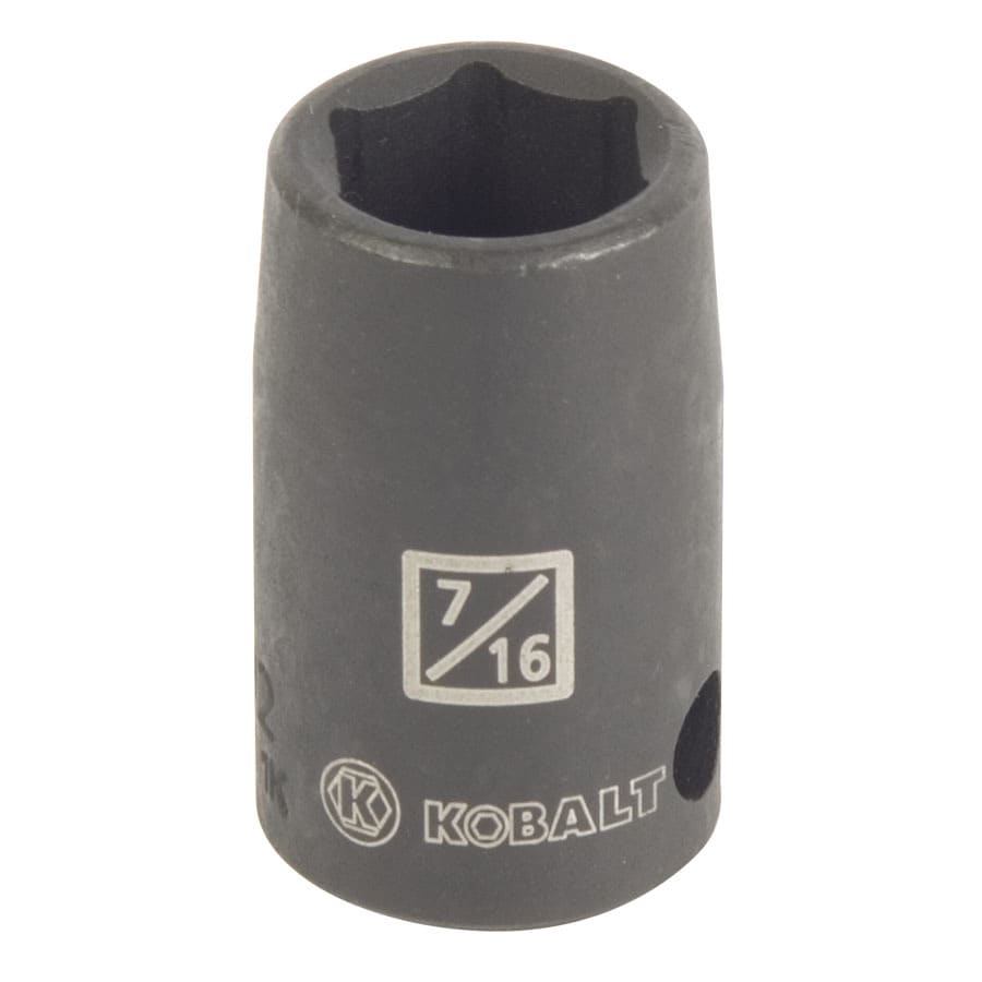 Kobalt 3/8-in Drive 7/16-in Shallow Standard (SAE) Impact Socket