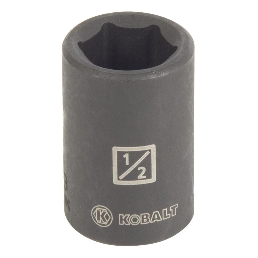Kobalt 3/8-in Drive 1/2-in Shallow Standard (SAE) Impact Socket