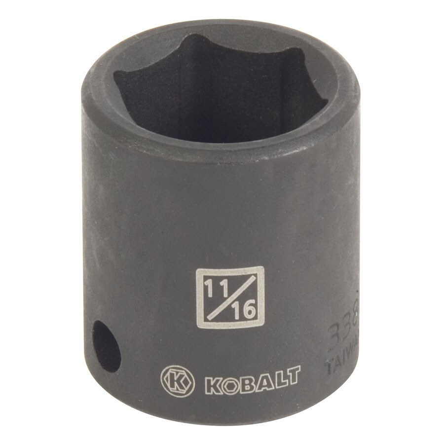Kobalt 3/8-in Drive 11/16-in Shallow Standard (SAE) Impact Socket