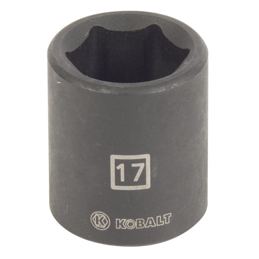 Kobalt 3/8-in Drive 17mm Shallow 6-Point Metric Impact Socket