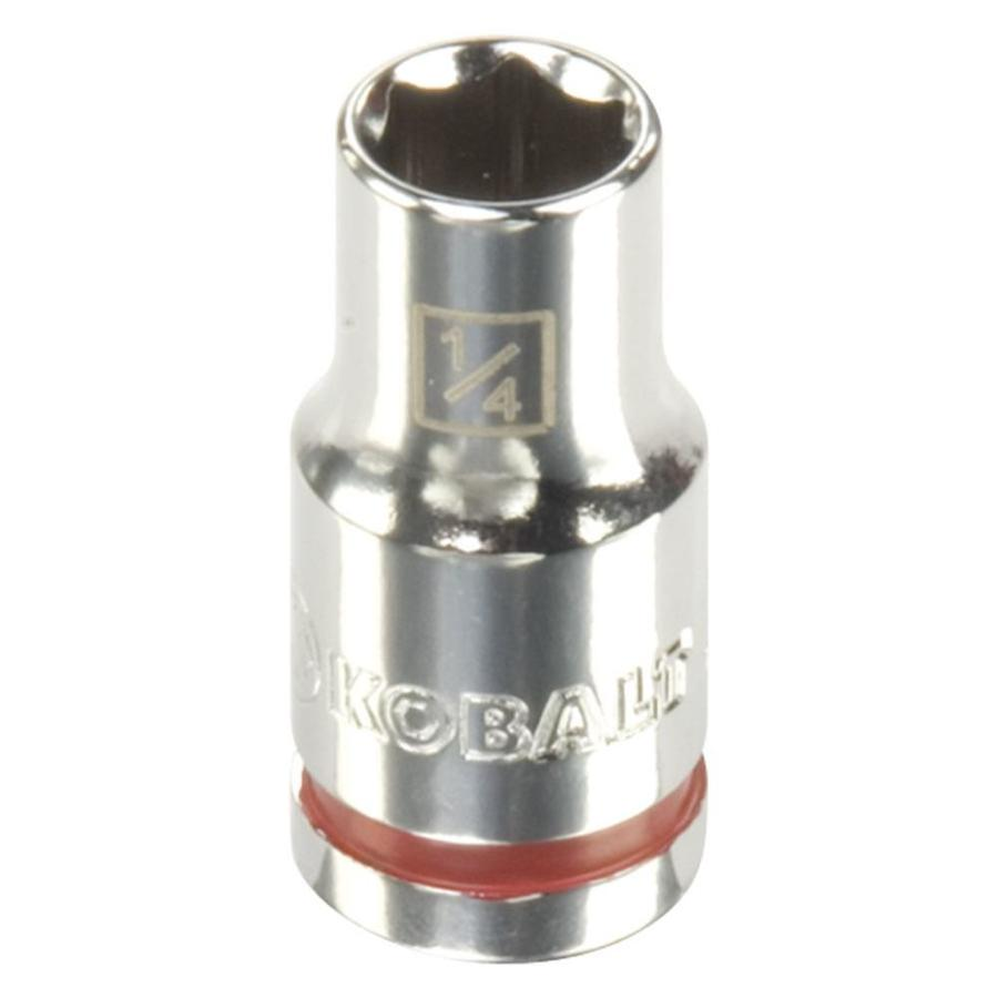Kobalt 1/4-in Drive 1/4-in Shallow 6-Point Standard (SAE) Socket