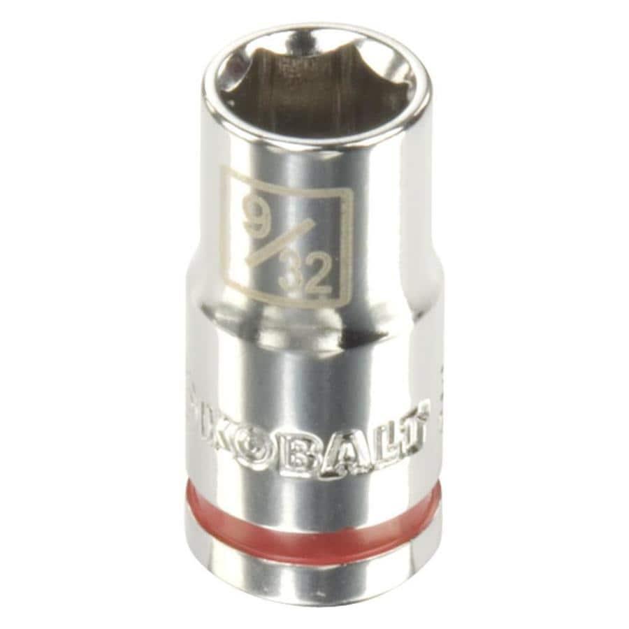 Kobalt 1/4-in Drive 9/32-in Shallow 6-Point Standard (SAE) Socket