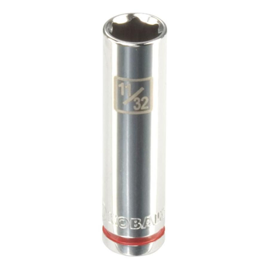 Kobalt 1/4-in Drive 11/32-in Deep 6-Point Standard (SAE) Socket