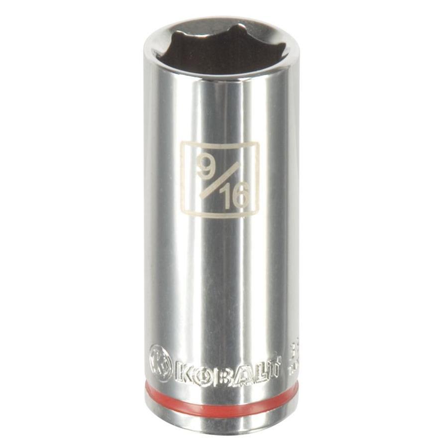 Kobalt 1/4-in Drive 9/16-in Deep 6-Point Standard (SAE) Socket