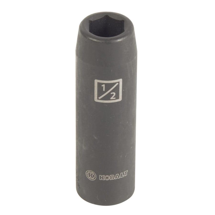 Kobalt 1/2-in Drive 1/2-in Deep 6-Point Standard (SAE) Impact Socket
