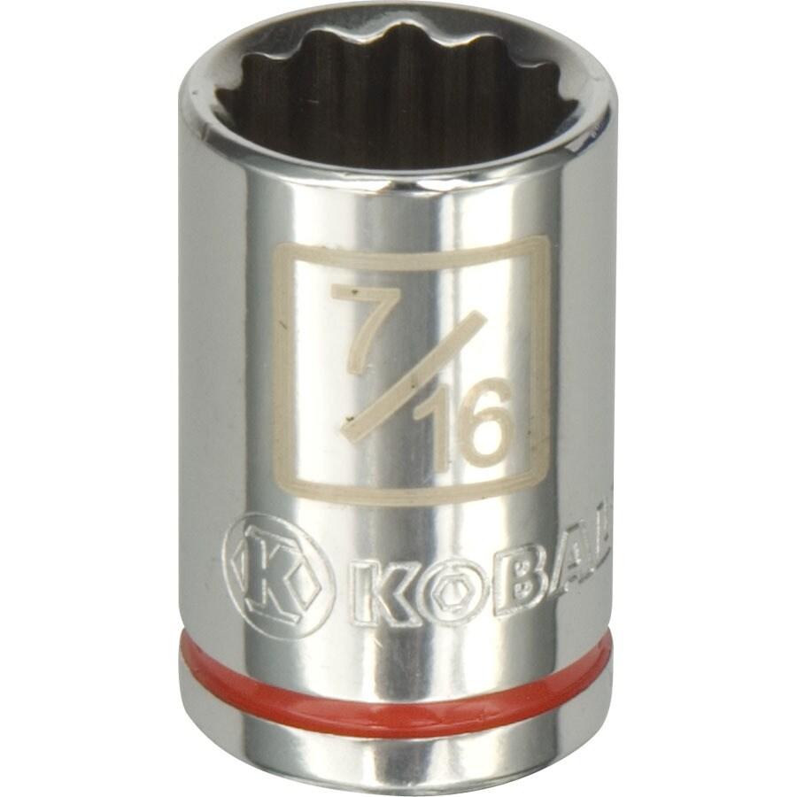 Kobalt 1/4-in Drive 7/16-in Shallow 12-Point Standard (SAE) Socket