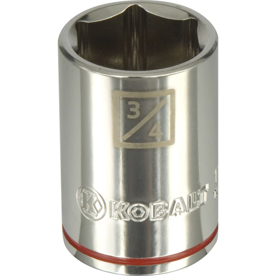 Kobalt 1/2-in Drive 3/4-in Shallow 6-Point Standard (SAE) Socket