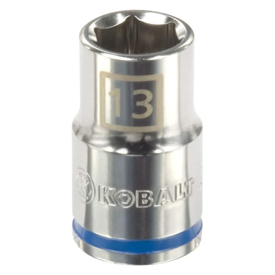 Kobalt 1/2-in Drive 13mm Shallow 6-Point Metric Socket
