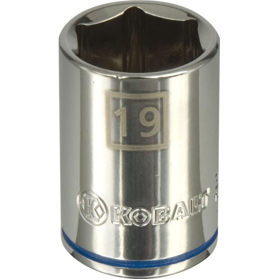 Kobalt 1/2-in Drive 19mm Shallow 6-Point Metric Socket