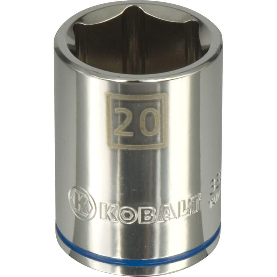 Kobalt 1/2-in Drive 20mm Shallow 6-Point Metric Socket