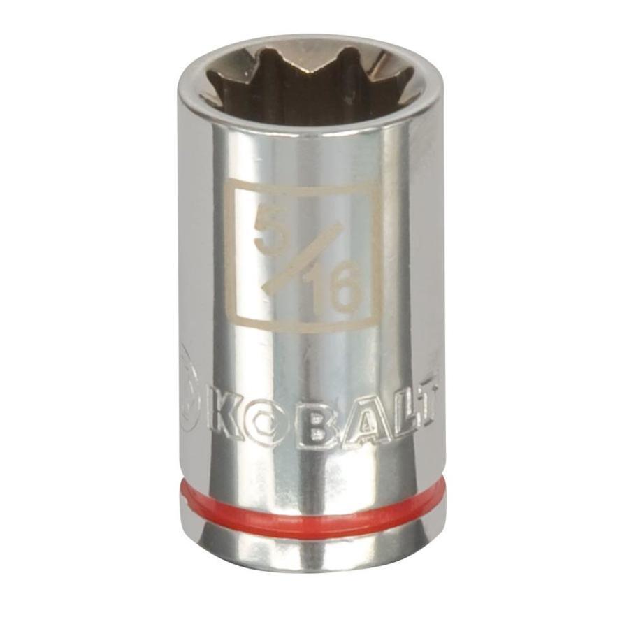 Kobalt 1/4-in Drive 5/16-in Shallow 8-Point Standard (SAE) Socket