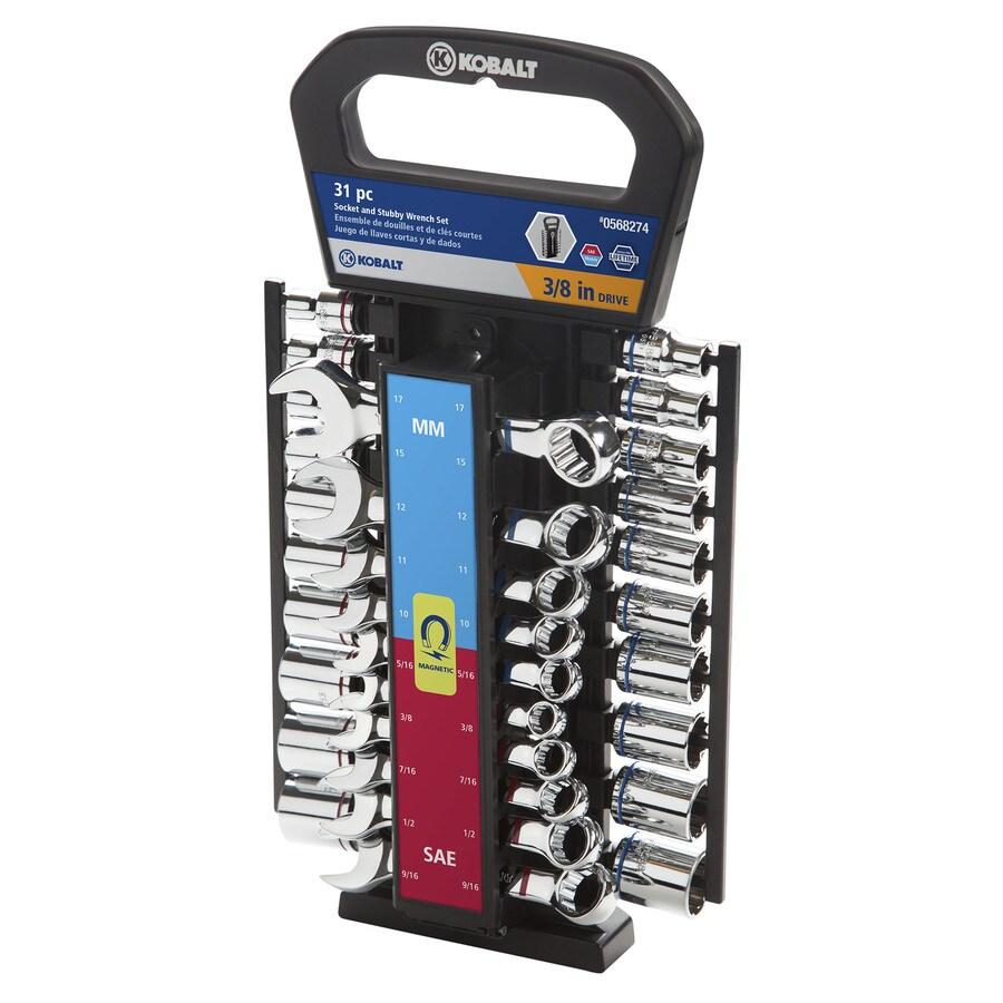 Kobalt Standard (SAE) and Metric Mechanic's Tool Set (31-Piece)