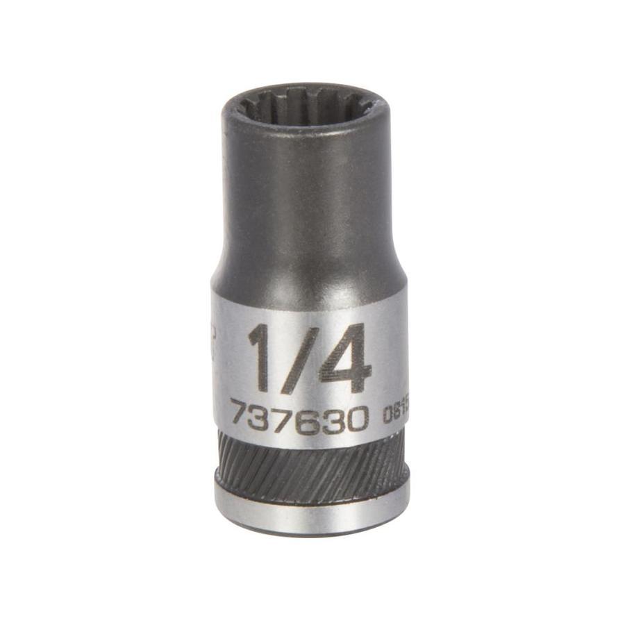 Kobalt 1/4-in Drive 1/4-in Shallow 12-Point Standard (SAE) Socket
