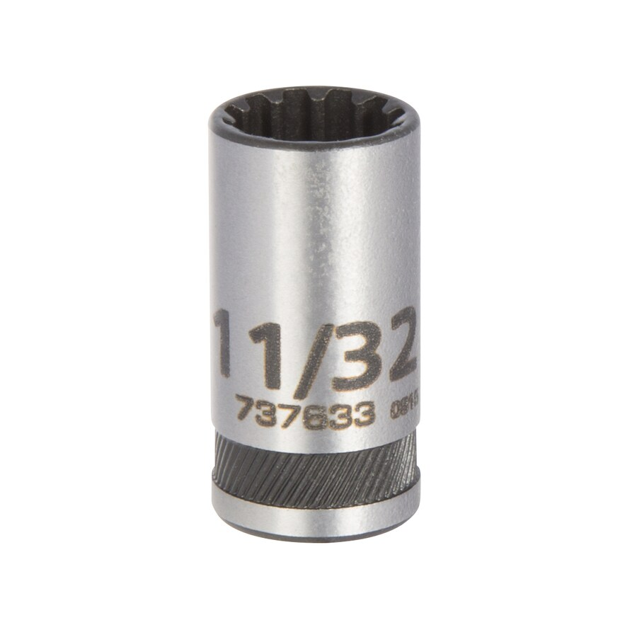 Kobalt 1/4-in Drive 11/32-in Shallow 12-Point Standard (SAE) Socket