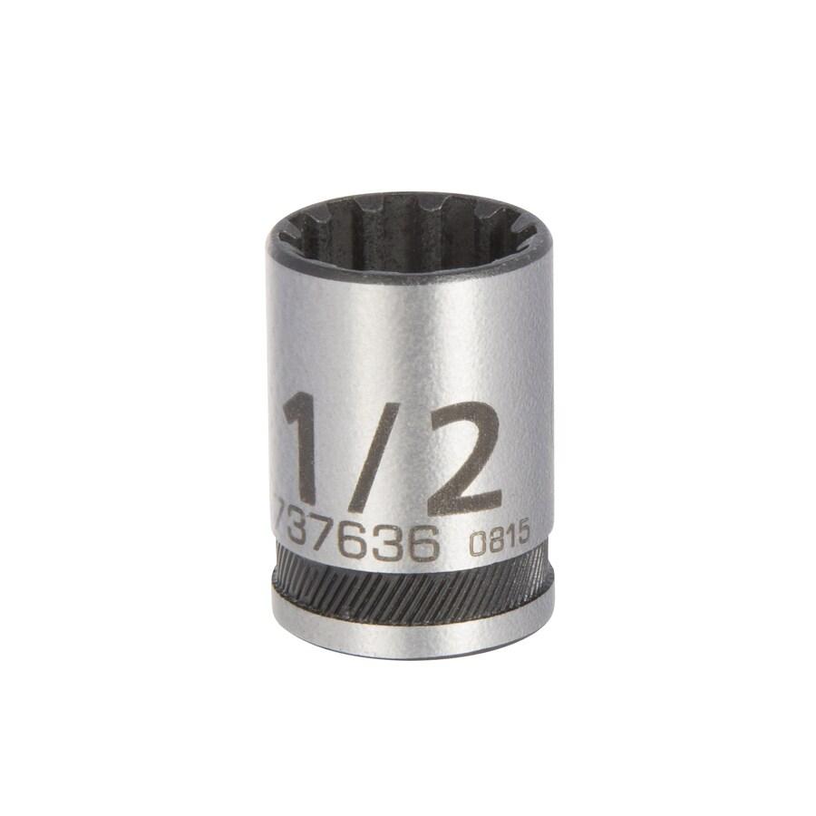 Kobalt 1/4-in Drive 1/2-in Shallow 12-Point Standard (SAE) Socket