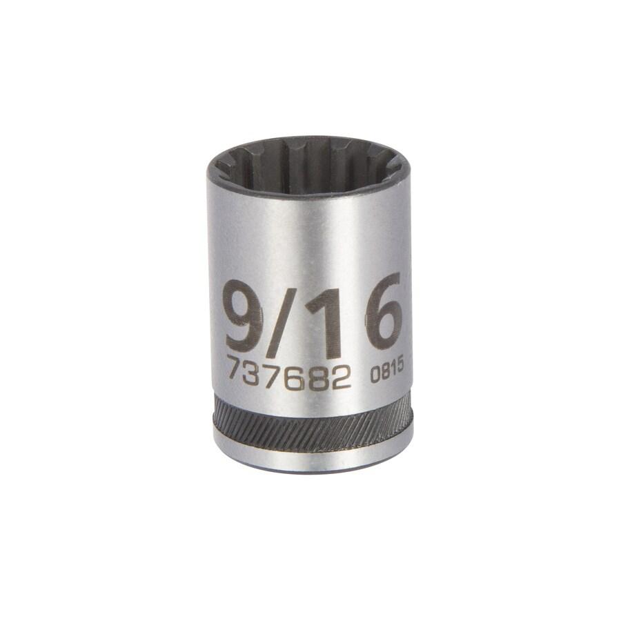 Kobalt 3/8-in Drive 9/16-in Shallow 12-Point Standard (SAE) Socket