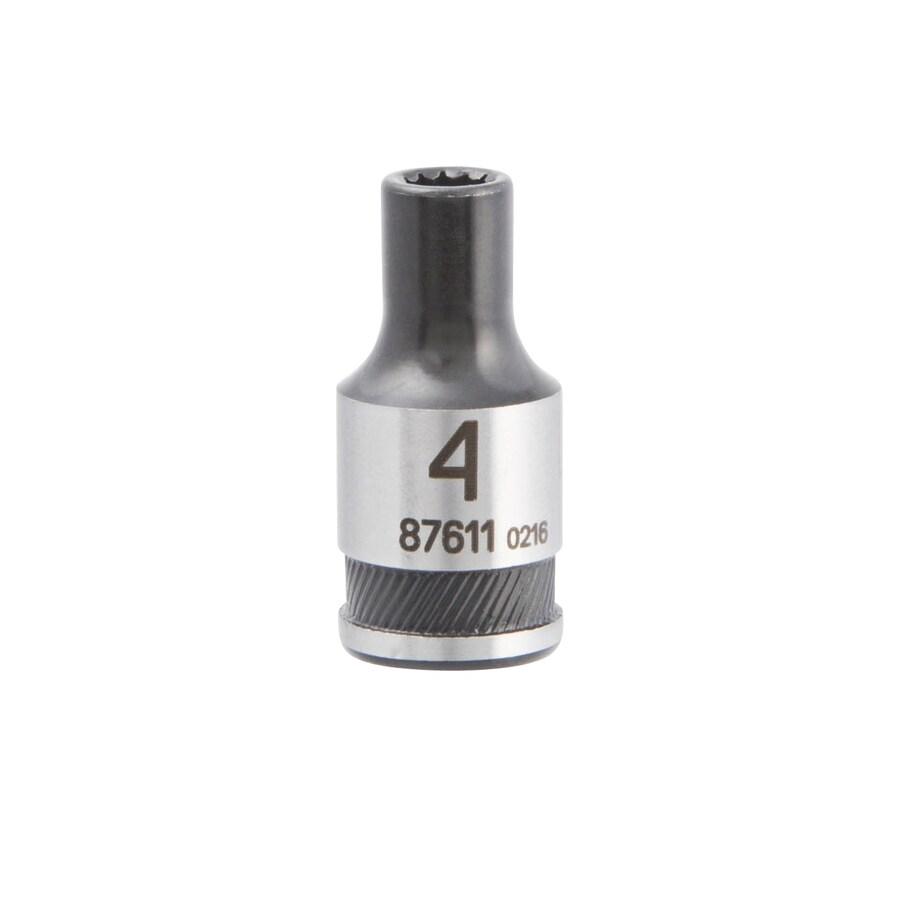 Kobalt Universal 1/4-in Drive 4mm Shallow Spline Metric Socket