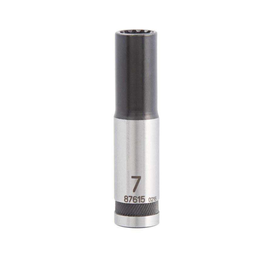 Kobalt 1/4-in Drive 7mm Deep Spline Metric Socket