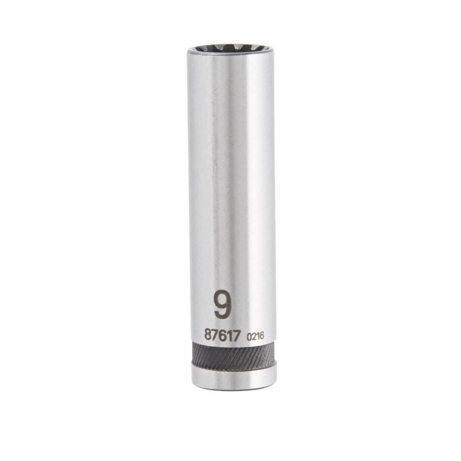 Kobalt 1/4-in Drive 9mm Deep Spline Metric Socket