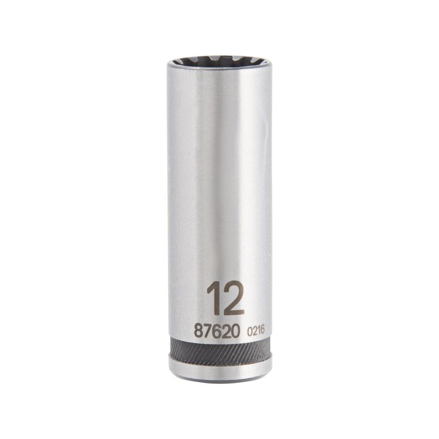 "Rolson 1//4/"" Deep Metric Socket Set 11 Pieces  4-13mm with Rail Vanadium Steel"