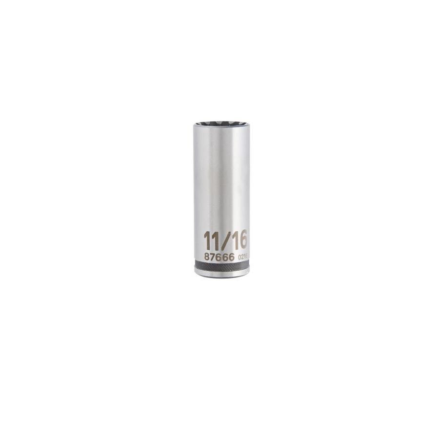 Kobalt 3/8-in Drive 11/16-in Deep Spline Standard (SAE) Socket