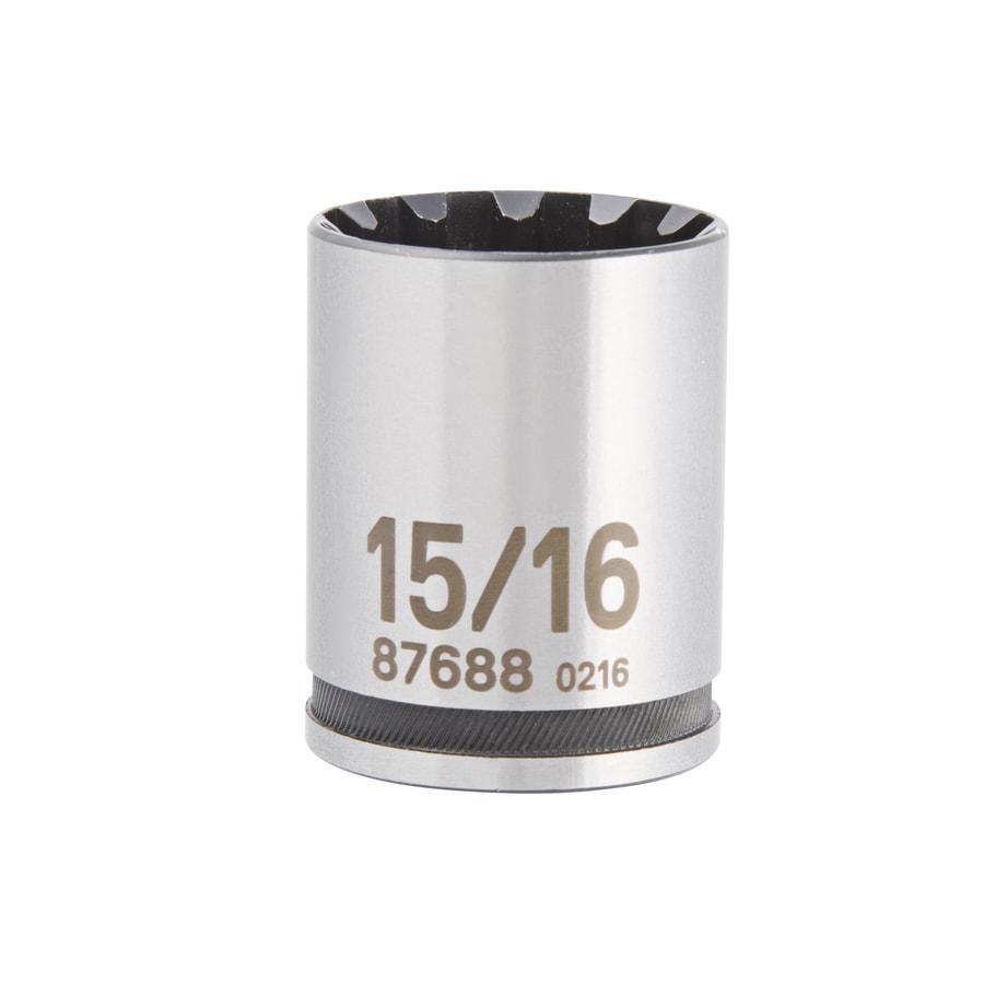 Kobalt 1/2-in Drive 15/16-in Shallow Spline Standard (SAE) Socket
