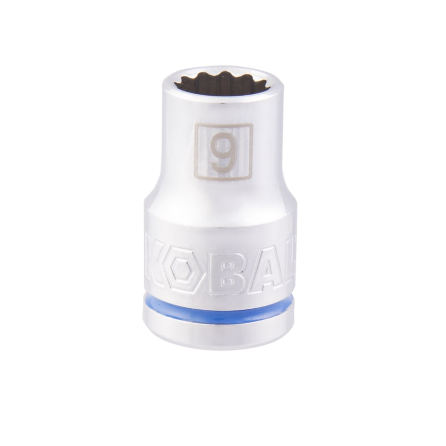 Kobalt 1/2-in Drive 9mm Shallow 12-Point Metric Socket