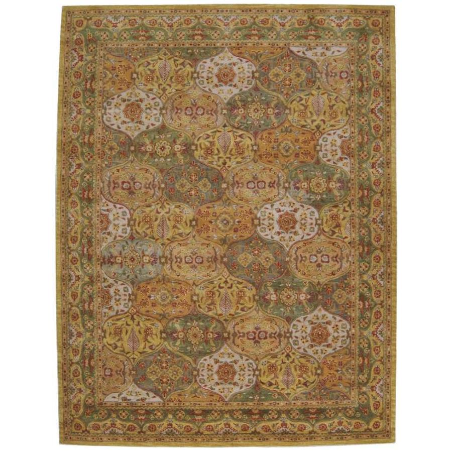 Nourison India House Multicolor Rectangular Indoor Tufted Area Rug (Common: 8 x 11; Actual: 96-in W x 126-in L)