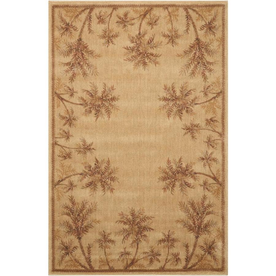 Nourison Somerset Beige Rectangular Indoor Woven Area Rug (Common: 4 x 6; Actual: 42-in W x 66-in L)