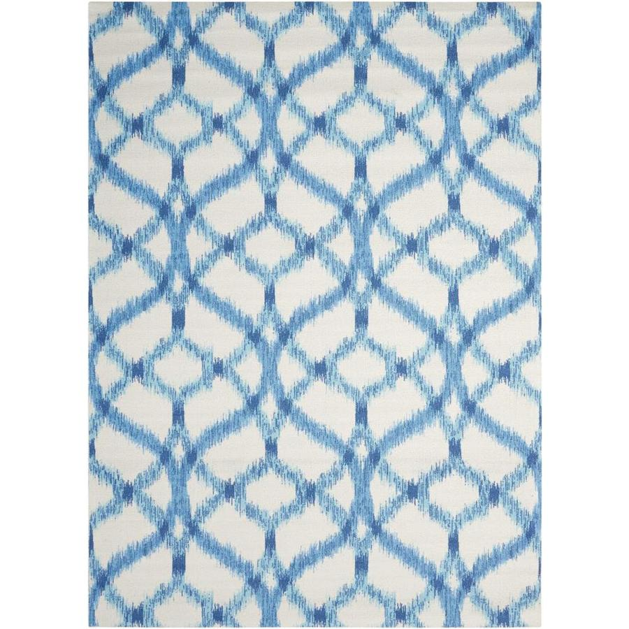 Waverly Sun and Shade Aegean Rectangular Indoor/Outdoor Machine-Made Area Rug (Common: 7 x 10; Actual: 93-in W x 130-in L)