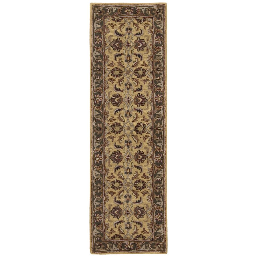 Nourison India House Yellow Tufted Wool Runner (Common: 2-ft x 8-ft; Actual: 2.25-ft x 7.5-ft)